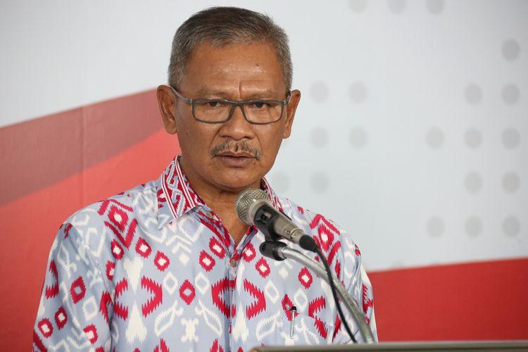 Juru bicara pemerintah untuk penanganan covid-19 Achmad Yurianto saat memberikan keterangan pers di Graha BNPB, Jakarta, Minggu (22/3/2020).
