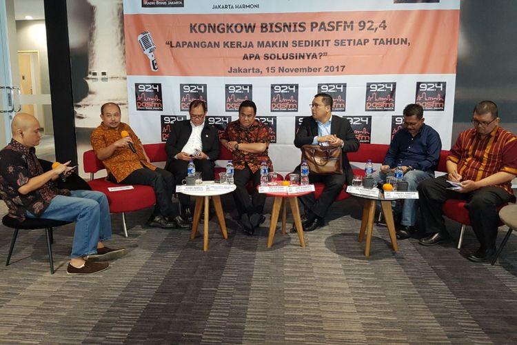 Acara Kongkow Bisnis Pas FM di Hotel Ibis Harmoni, Jakarta, Rabu (15/11/2017).