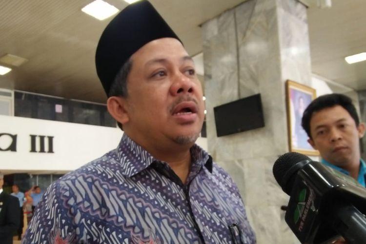 Wakil Ketua DPR RI, Fahri Hamzah di Kompleks Parlemen, Senayan, Jakarta, Jumat (5/7/2019)