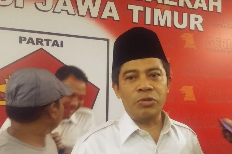 Ketua DPD Partai Gerindra Jatim, Soepriyatno.