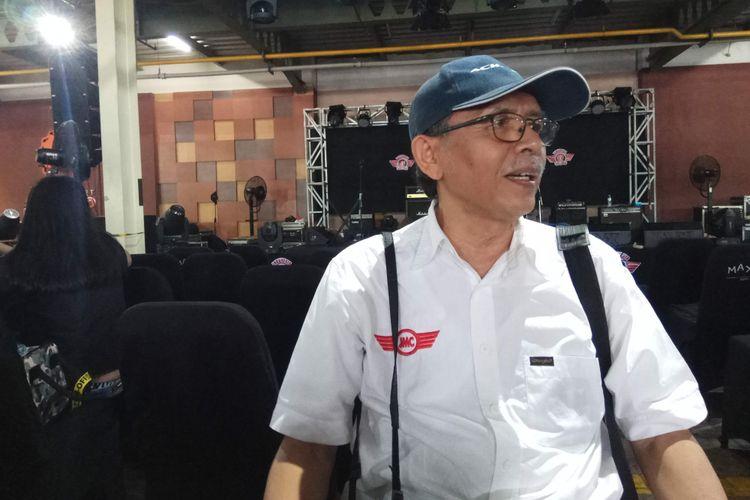 Sesepuh Jakarta Morris Club (JMC), Amrih Sahri saat ditemui di sela acara Indonesia 1st Mini Day yang digelar di MaxxBox Lippo Karawaci, Tangerang, Banten, Sabtu (9/12/2017).