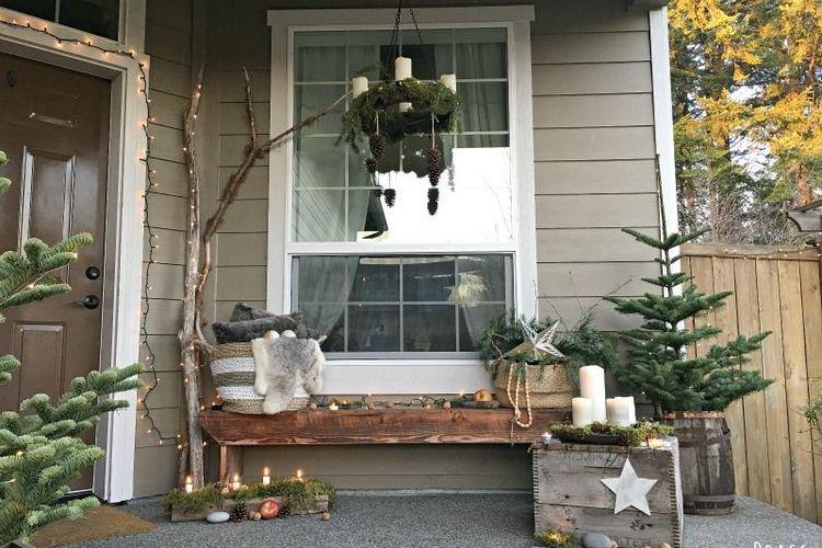 8 Inspirasi Dekorasi Natal Untuk Teras Dan Beranda Halaman