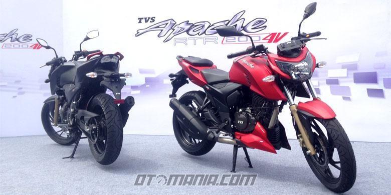 Sepeda motor sport terbaru TVS, Apache RTR 200.