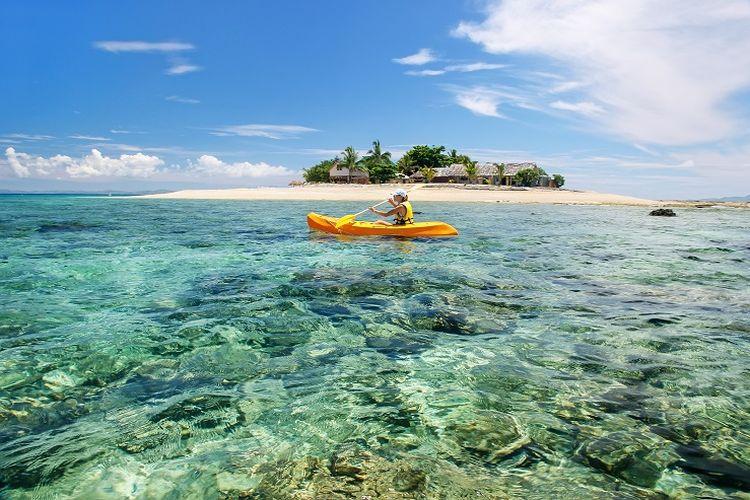 Ilustrasi Fiji - Kepulauan Mamanuca.