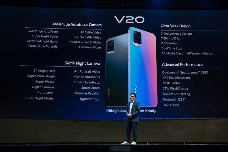 Spesifikasi Vivo V20.