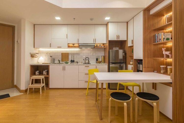 Pencahayaan untuk dapur minimalis karya Korie Design