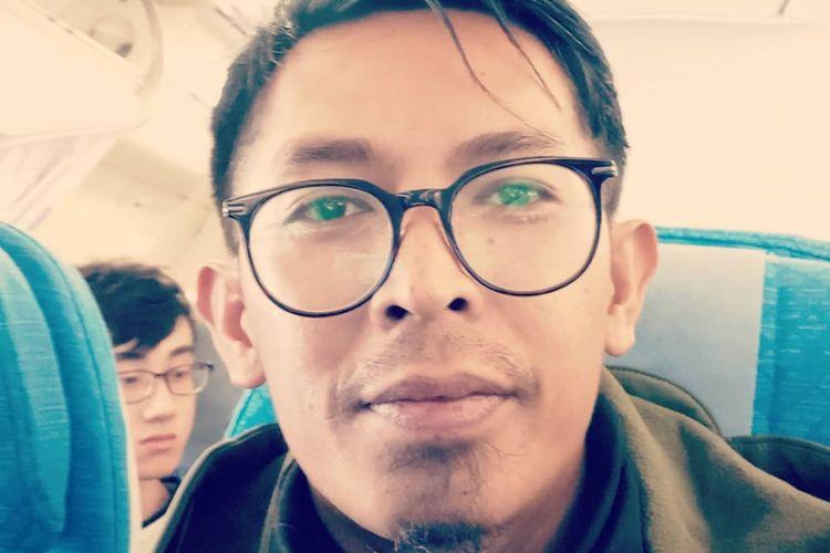 Komedian Heriyanto atau yang lebih dikenal sebagai Aa Jimmy