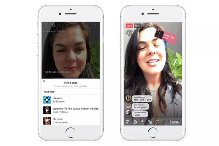 Screenshot Facebook Lip Sync Live