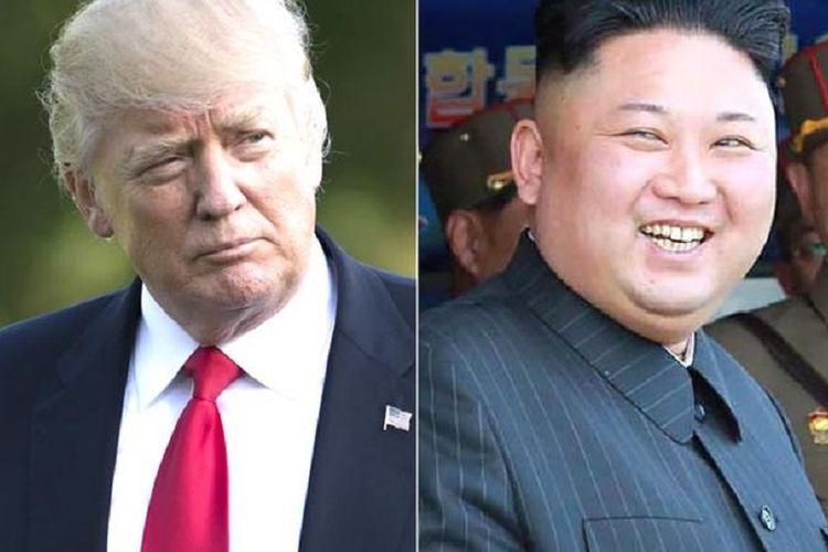 Presiden Amerika Serikat Donald Trump dan Pemimpin Tertinggi Korea Utara Kim Jong Un