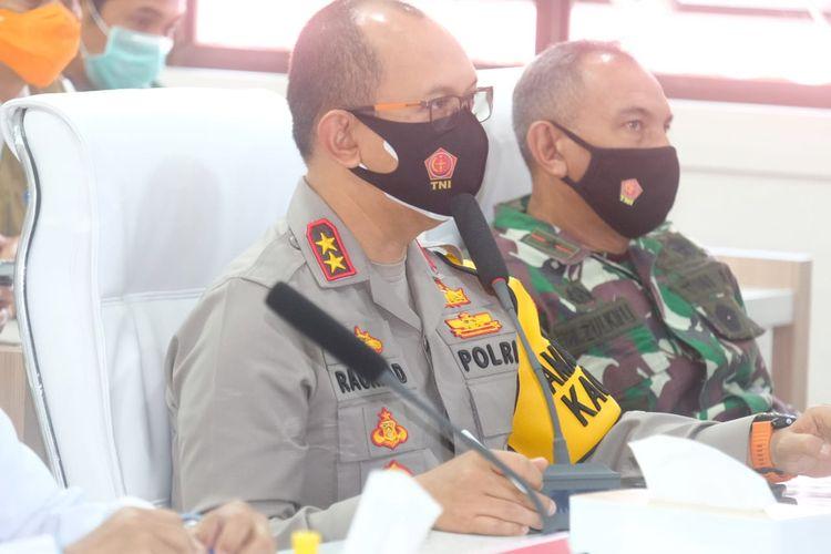 Kapolda Jambi, Irjen Pol A Rachmad Wibowo saat memberikan arahan terkait pengaktifan gugus tugas dan penegakan hukum bagi pelanggar prokes