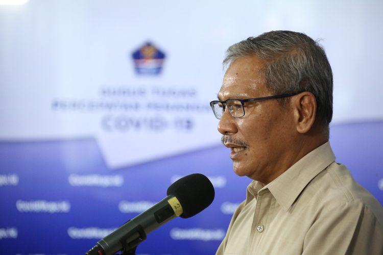 Juru Bicara Pemerintah untuk COVID-19 Achmad Yurianto saat memberikan keterangan di Graha BNPB Jakarta pada Senin (11/5/2020).