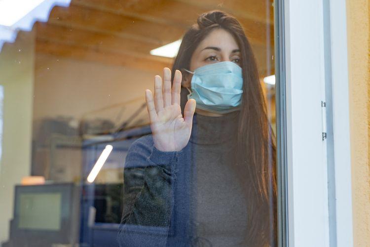Ilustrasi stres dan sedih di masa pandemi.