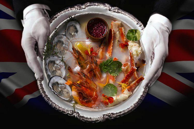 Hidangan laut segar ala Inggris yang dihadirkan dalam When Jakarta Meets London-Bringing The Heritage of The Savoy to The City.
