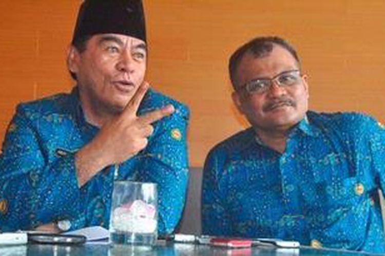 Pasangan Hein Namotemo dan Malik Ibrahim saat mendeklarasikan diri mencalonkan diri sebagai calon Gubernur Maluku Utara dari jalur Independent beberapa waktu lalu.