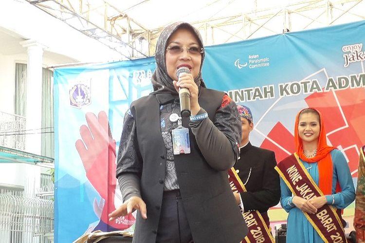 Wakil Ketua Umum Sylviana Murni di Kampung Tomang, Grogol Petamburan, Jakarta Barat pada Selasa (2/10/2018).