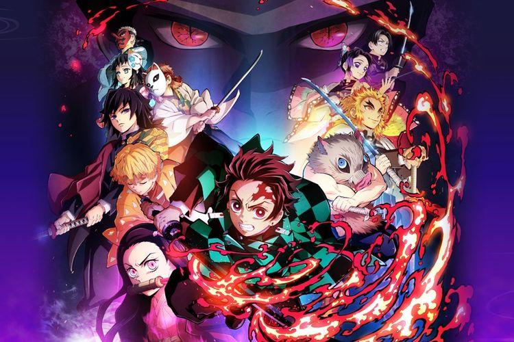 Ilustrasi game Demon Slayer -Kimetsu no Yaiba- The Hinokami Chronicles.