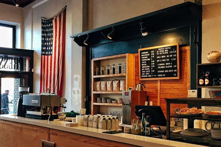 ilustrasi coffee shop.