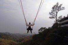 Menguji Adrenalin di Ayunan Raksasa Sarae Hills Bandung, Yuk...