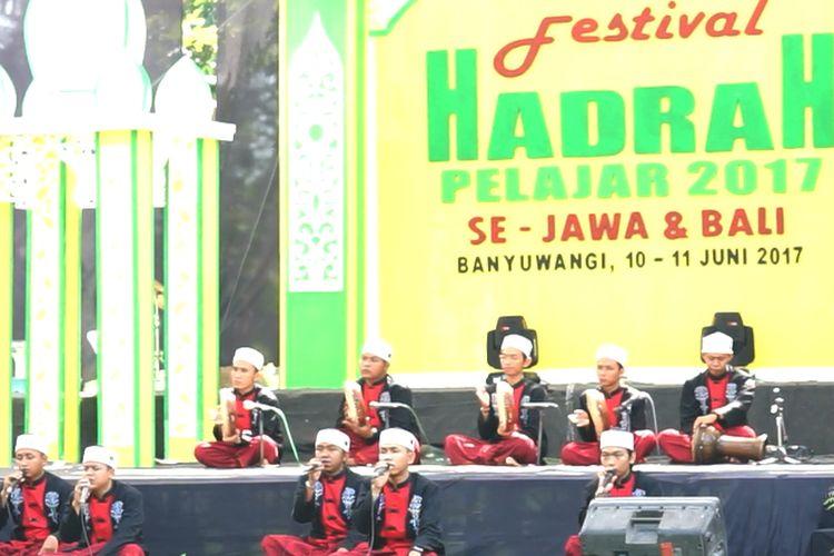 Pemerintah Kabupaten Banyuwangi menggelar Festival Hadrah 2017 pada 10-11 Juni 2017. Lomba musik religi itu diikuti 152 kelompok musik dari 25 daerah.