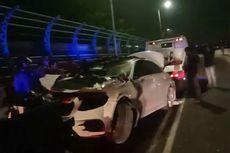 Kecelakaan di Flyover Patal Senayan, Mercedes Benz E 300 Ringsek