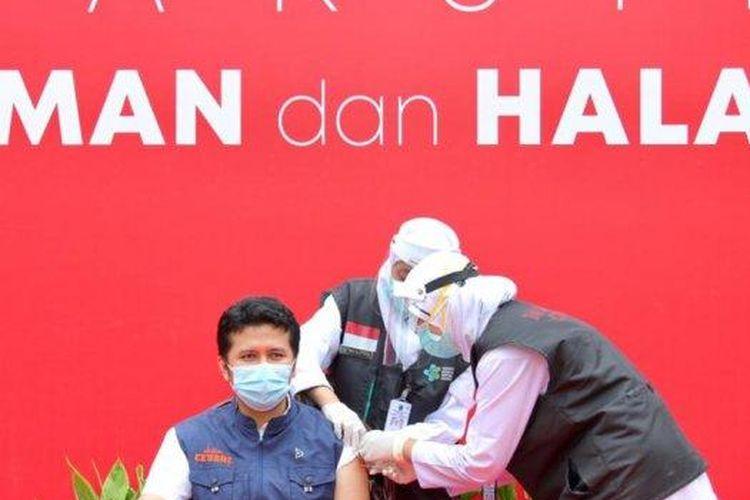Emil Dardak jalani vaksinasi dosis kedua