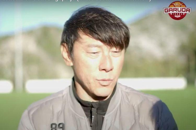 Pelatih timnas Indonesia, Shin Tae-yong, usai laga timnas U19 Indonesia vs NK Dugopolje.