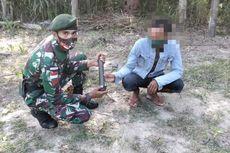 Warga Perbatasan RI-Timor Leste Serahkan Granat Senapan Buatan Belgia ke TNI, Milik Almarhum Sang Ayah