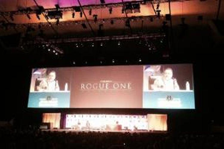 Trailer antologi Star Wars, Rogue One diputar di Star Wars Celebration, Anaheim, Los Angeles, Minggu (19/4/2015) waktu AS,