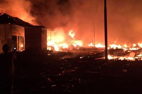 178 Kios di Pasar Perbatasan RI-Papua Niugini Ludes Terbakar