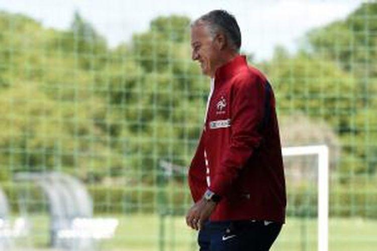 Pelatih tim nasional Perancis, Didier Deschamps, di pusat latihan timnas Perancis, Clairefontaine-en-Yvelines, 19 Mei 2014.