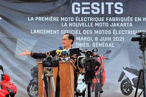 Ratusan Unit Motor Listrik Gesits Dikirim ke Afrika