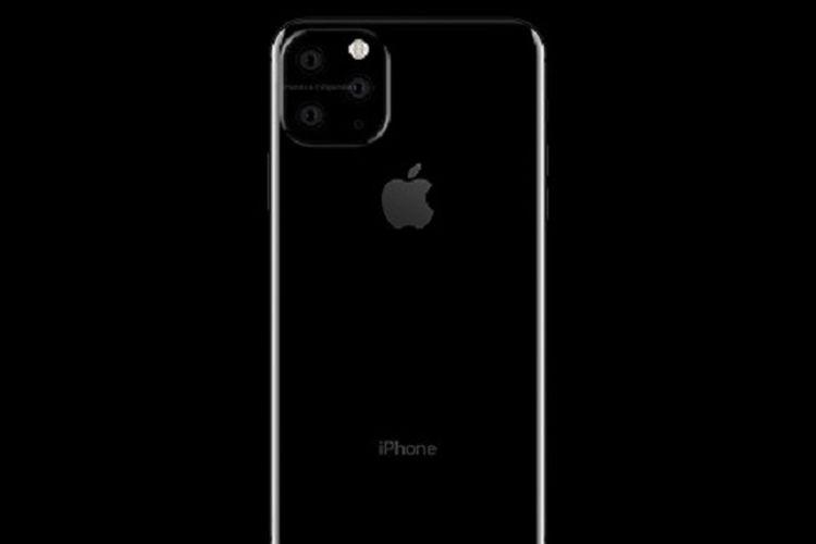 Render iPhone 2019 dengan triple-camera