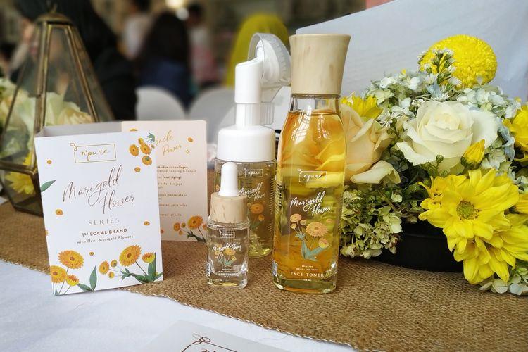 N?Pure Marigold Anti Aging yang berbahan alami dari ekstrak bunga marigold.