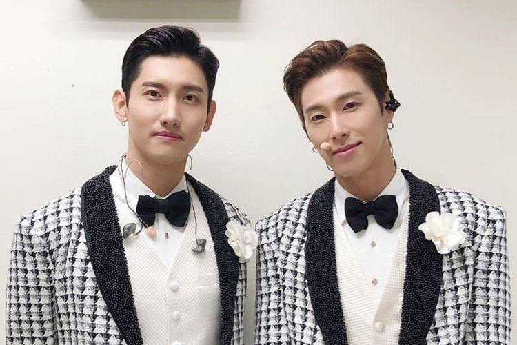 Duo K-pop, TVXQ, yang akan menggelar konser di ICE BSD, Tangerang, pada 31 Agustus 2019.