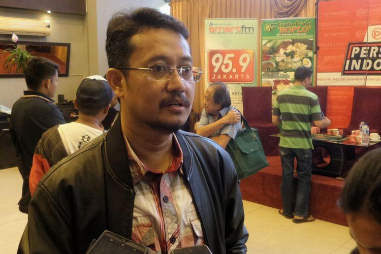 Komisioner KPU Periode 2012-2017 Ferry Kurnia Rizkiansyah dalam diskusi Perspektif Indonesia dengan topik: Mengobati Luka Pilkada di kawasan Menteng, Jakarta Pusat, Sabtu (22/4/2017).