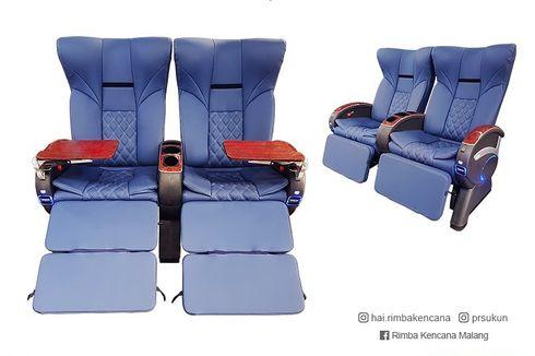 Kursi Bus Double Leg Rest Terbaru Buatan Rimba Kencana
