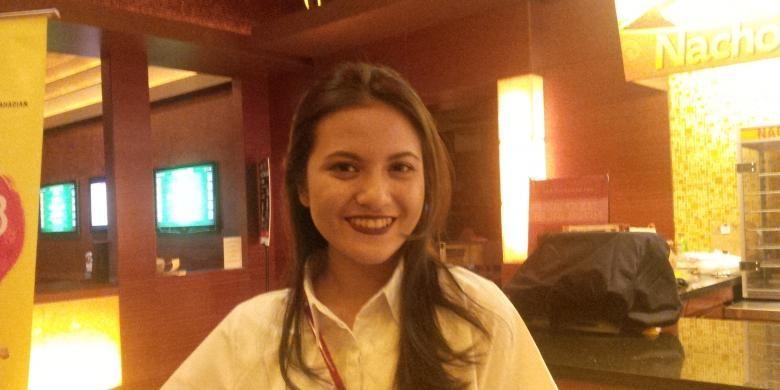 Artis sinetron Marsha Aruan menghadiri screening film Talak 3, di XXI Plaza Senayan, Jakarta Pusat, Kamis (28/1/2016).