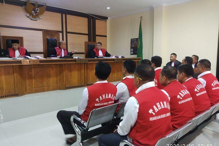 Proses sidang dakwaan Kasus penganiayaan Zaenal Abidin di Pengadilan Negeri Lombok Timur