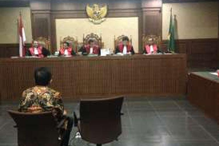 Suasana sidang mantan Ketua DPD Irman Gusman di Pengadilan Tipikor, Selasa (8/11/2016).