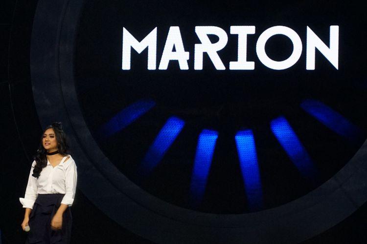 Kontestan Marion Jola tampil di panggung Indonesian Idol 2018 atau Season 9, yang digelar di Studio 11, MNC Studios, Kebon Jeruk, Jakarta Barat, Senin (22/1/2018).