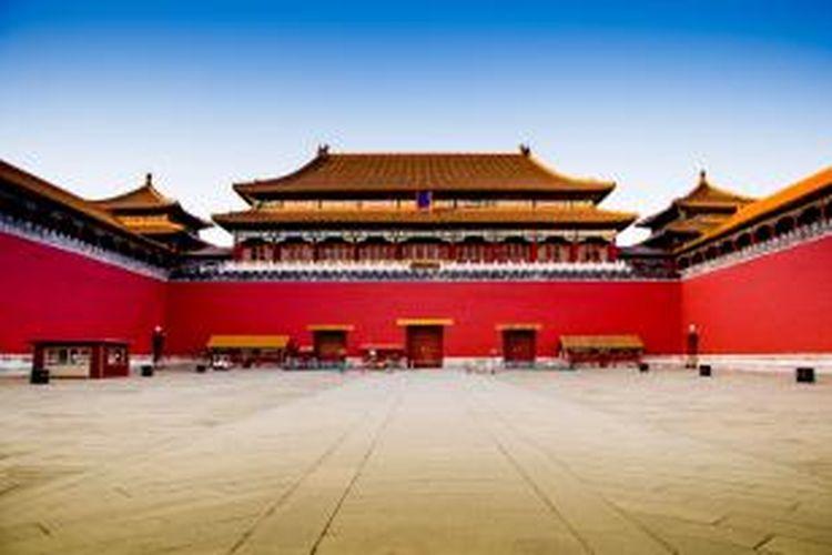 Kota Terlarang di Beijing, Tiongkok.