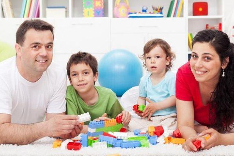 Ilustrasi anak dan orangtua.