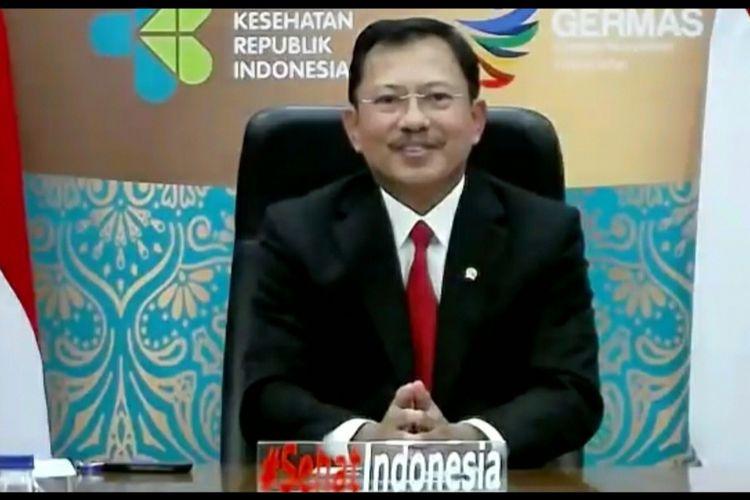 Menkes Terawan Agus Putranto memberikan pemaparan dalam konferensi pers virtual bersama WHO, Jumat (6/11/2020).