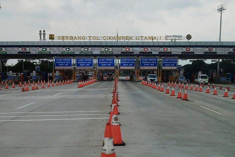 Jumlah kendaraan yang berasal dari GT Cikampek Utama sebanyak 5.117 uni atau Jakarta, turun sebesar 93 persen dari Lebaran tahun 2019.