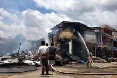 Diduga Korsleting Listrik, Belasan Ruko di Ketapang Terbakar