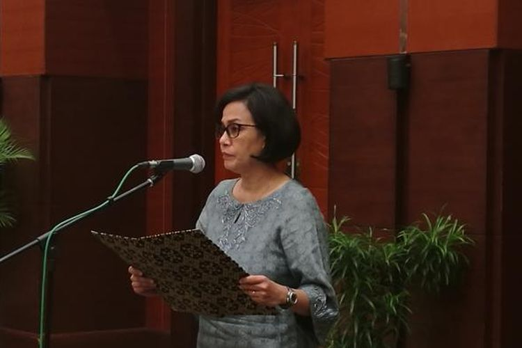 Menteri Keuangan Sri Mulyani di Kantor Kementerian Keuangan, Jakarta, Senin (23/1/2017)