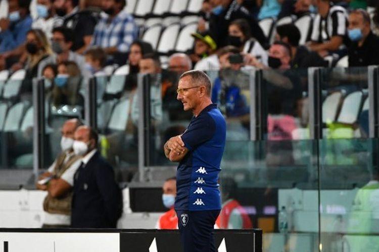 Pelatih Empoli Aurelio Andreazzoli ketiga mendampingi timnya bertandang ke markas Juventus dalam lanjutan Serie A musim 2021-2022, Minggu (29/8/2021) dini hari WIB.