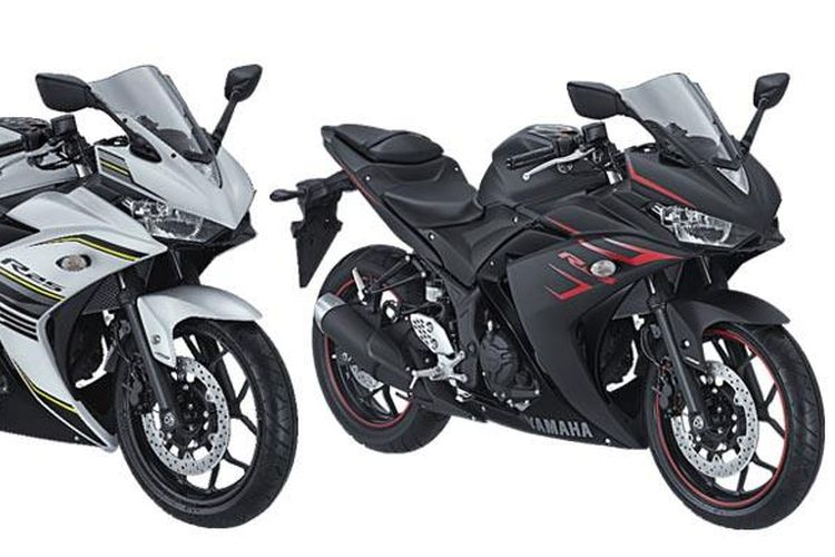 Warna baru Yamaha R25, Putih dan hitam doff.