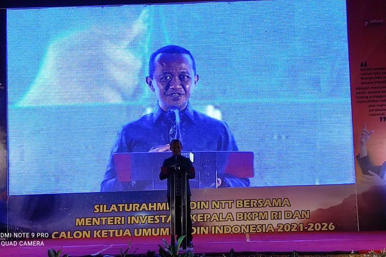 Menteri Investasi dan Kepala Badan Koordinasi Penanaman Modal (BKPM) Bahlil Lahadalia, saat bertemu dengan pengurus Kadin NTT di Kupang, Sabtu (22/5/2021) malam