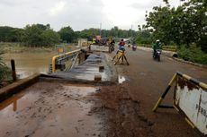 Amblesnya Jembatan Cihuni Tangerang Makin Memprihatinkan, Bikin Pengendara Waswas